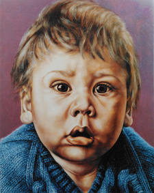 'Innocence' Sept. 1984 360 x 285 mm Oil on gesso board