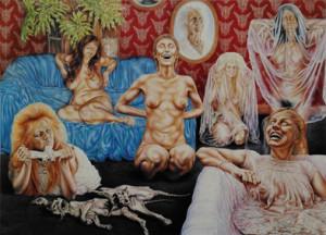 'She' Dec. 1984 880 x 1200 mm Oil on gesso board
