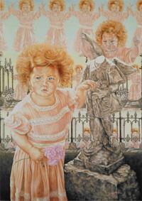 'The Angel' July 1981 1220 x 870 mm Oil on gesso board