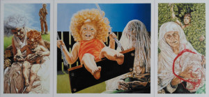 'The Swing' Feb 1983 Triptych: L & R panels 760 x 800 mm Middle panel 760 x 800 mm Oil on gesso board